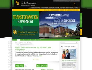 business.baylor.edu screenshot