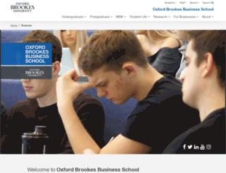 business.brookes.ac.uk screenshot