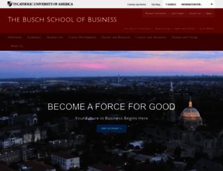 business.cua.edu screenshot