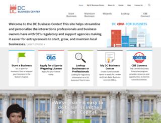 business.dc.gov screenshot