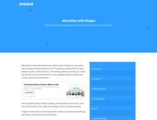 business.disqus.com screenshot