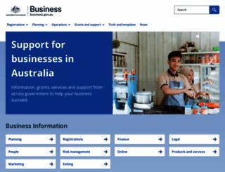 business.gov.au screenshot