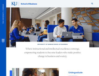 business.ku.edu screenshot