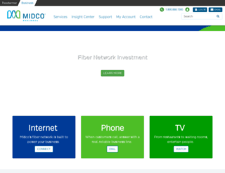 business.midco.com screenshot