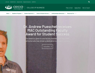 business.ohio.edu screenshot