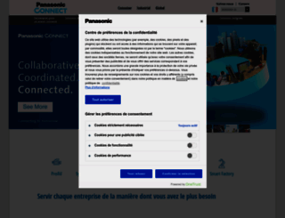 business.panasonic.fr screenshot