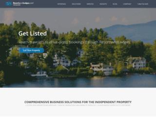 business.resortsandlodges.com screenshot