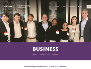 business.sewanee.edu screenshot
