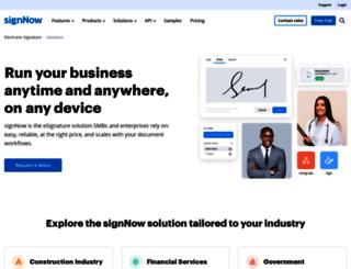 business.signnow.com screenshot