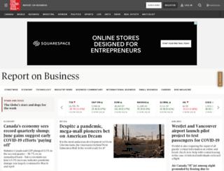 business.theglobeandmail.com screenshot