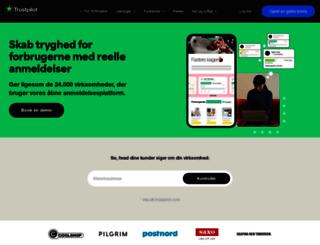 business.trustpilot.dk screenshot