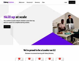 business.udemy.com screenshot