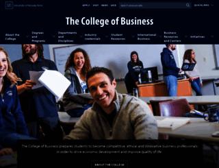 business.unr.edu screenshot