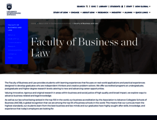 business.uow.edu.au screenshot