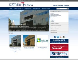 business.usi.edu screenshot