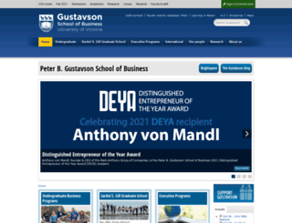 business.uvic.ca screenshot
