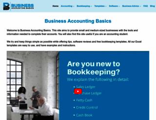 businessaccountingbasics.co.uk screenshot
