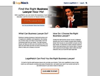 businessattorneys.legalmatch.com screenshot