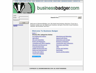 businessbadger.com screenshot