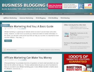 businessbloggingguide.com screenshot
