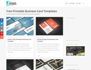 businesscardjournal.com screenshot