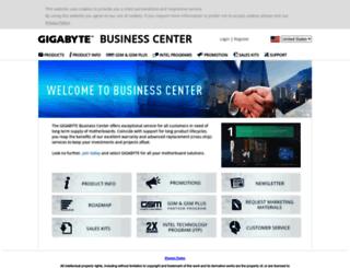 businesscenter.gigabyte.us screenshot