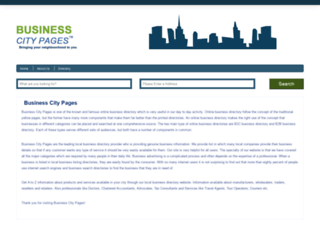 businesscitypages.com screenshot