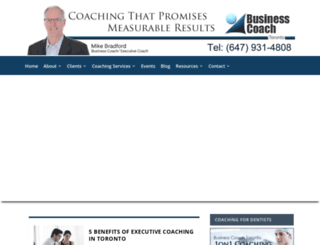 businesscoachtoronto.ca screenshot