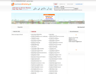 businessdirectory.pk screenshot