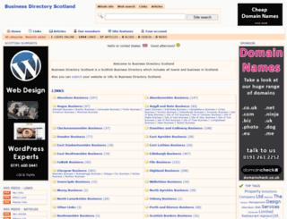 businessdirectoryscotland.com screenshot