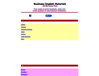 businessenglishmaterials.com screenshot