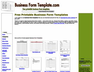businessformtemplate.com screenshot