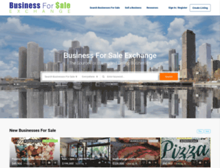 businessforsaleexchange.com screenshot
