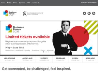 businessforum.charteredaccountantsanz.com screenshot
