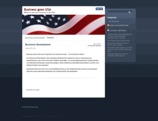 businessgoesusa.de screenshot