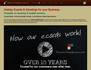 businessholidayecards.com screenshot