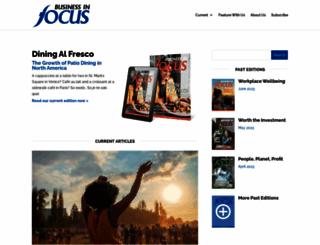 businessinfocusmagazine.com screenshot