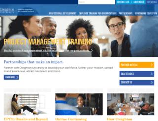 businessinstitute.creighton.edu screenshot