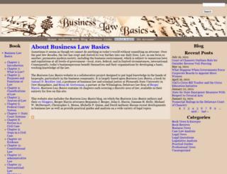 businesslawbasics.com screenshot
