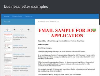 businessletter-samples.com screenshot