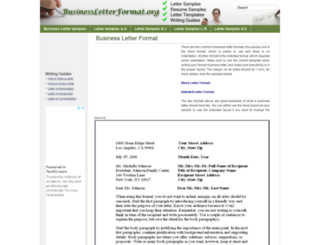 businessletterformat.org screenshot