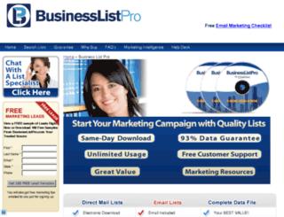 businesslistpro.com screenshot