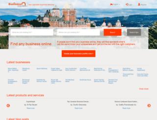 businessmention.ca screenshot