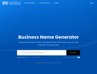 businessnamegenerator.com screenshot
