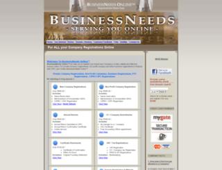 businessneeds.co.za screenshot