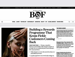 businessoffashion.com screenshot