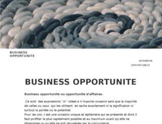 businessopportunite.com screenshot