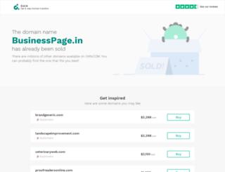 businesspage.in screenshot