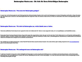 businessplan-muster.com screenshot