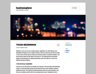 businessplanz.wordpress.com screenshot